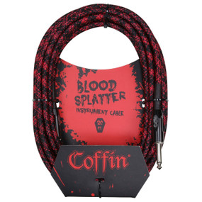 "Coffin CF-ICBS20 Bloodsplatter 20ft. Woven Instrument Cable, 1/4"" Straight"