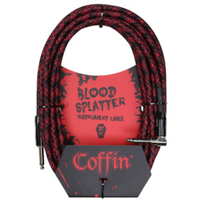 "Coffin CF-ICBS20R Bloodsplatter 20ft. Woven Instrument Cable, 1/4"" Right Angle"