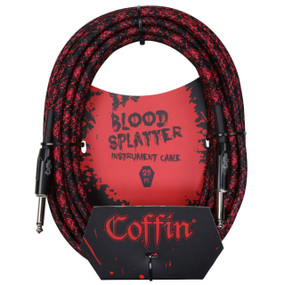"Coffin CF-ICBS25 Bloodsplatter 25ft. Woven Instrument Cable, 1/4"" Straight"