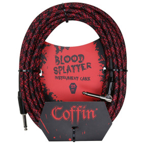 "Coffin CF-ICBS25R Bloodsplatter 25ft. Woven Instrument Cable, 1/4"" Right Angle"