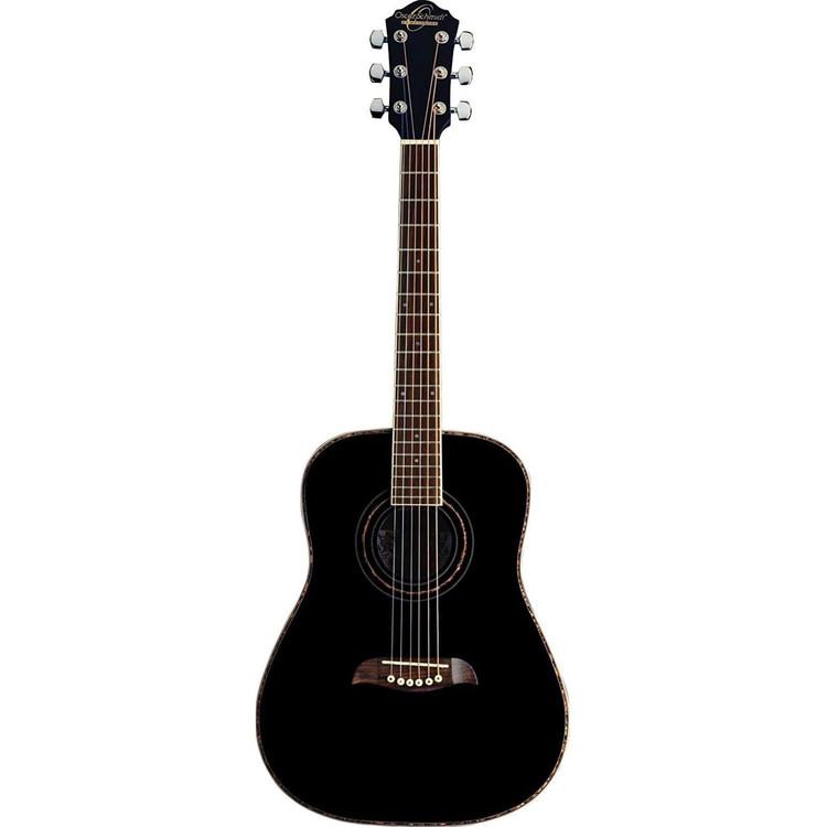 Oscar Schmidt OGHSBLH Student 1/2 Size Left Handed Acoustic Guitar, Black