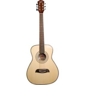Oscar Schmidt OGHSLH Student 1/2 Size Left Handed Acoustic Guitar, Natural