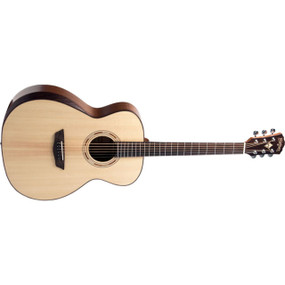 Washburn WCG10SENS Comfort Series Grand Auditorium Acoustic Electric Guitar, Natural