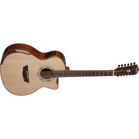Washburn WCG15SCE12 Comfort Series 12-String Acoustic Electric Guitar, Natural