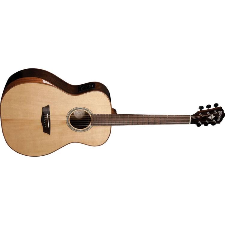 Washburn WCG700SWEK Comfort Series Grand Auditorium Acoustic Electric Guitar, Natural