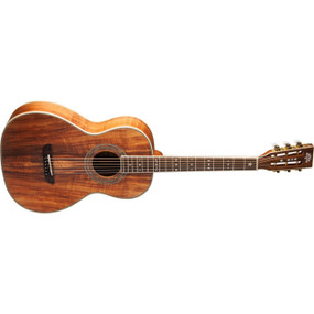 Washburn WP55NS Koa Parlor Acoustic Guitar, Natural