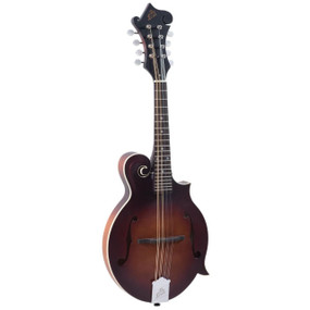 The Loar LM-310FE Honey Creek F-Style Acoustic Electric Mandolin, Brownburst