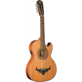 Oscar Schmidt OH22SE Thin Line Acoustic Electric Bajo Quinto with Gig Bag