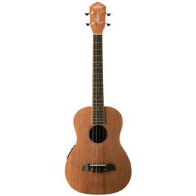 Oscar Schmidt OU52E Mahogany Acoustic Electric Baritone Ukulele, Natural