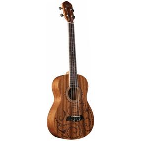 Oscar Schmidt OU52TAT Tattoo Acoustic Baritone Ukulele, Natural