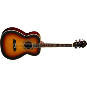 Oscar Schmidt OF2OTS Folk Style Acoustic Guitar, Tobacco Sunburst