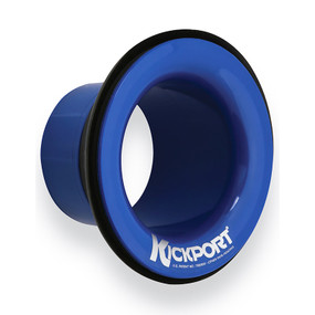 KickPort KP2-BLU Sonic Enhancement Bass Drum Port Insert, Blue