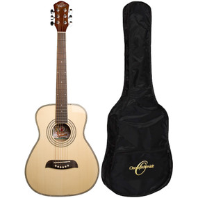 Oscar Schmidt OGHS 1/2 Size Acoustic Guitar w/ Gig Bag, Natural