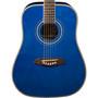 Oscar Schmidt OGHSTBL Student 1/2 Size Steel String Acoustic Guitar, Trans Blue