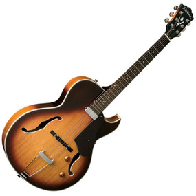 Washburn HB15CTSK Hollowbody Electric Guitar, Tobacco Sunburst