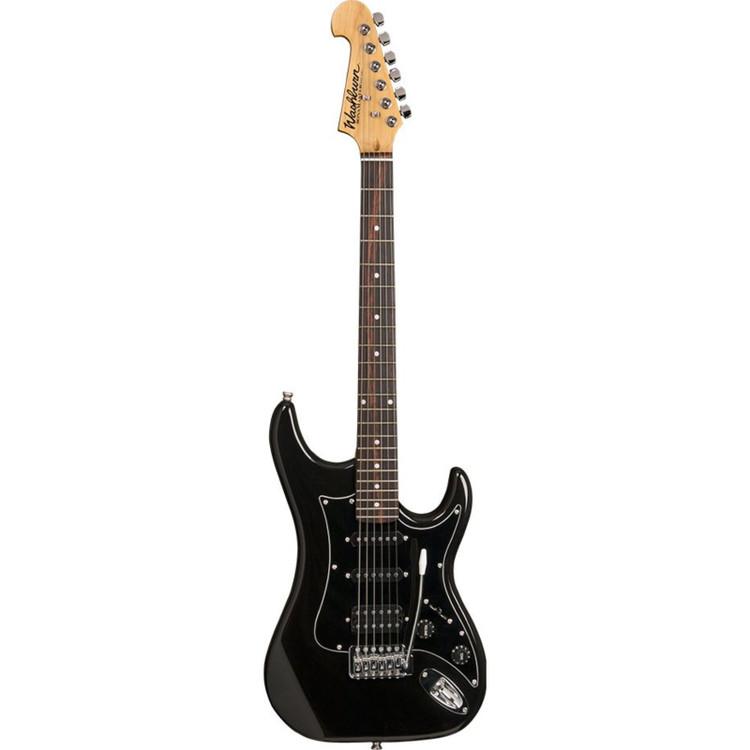 Washburn S2HMB Sonamaster Solid Body Electric Guitar, Metallic Black