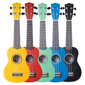 Savannah SU-ASST 10-Pack Soprano Ukuleles with Bag, Assorted Colors