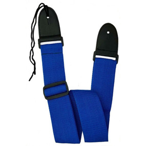 AXL PG-571-BL Adjustable Nylon Guitar Strap, Royal Blue
