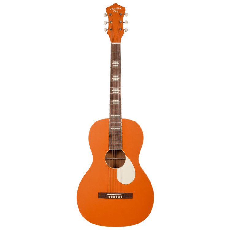 Recording King RPS-7-MOR Dirty 30s Series 7 Single 0 Acoustic Guitar, Monarch Orange