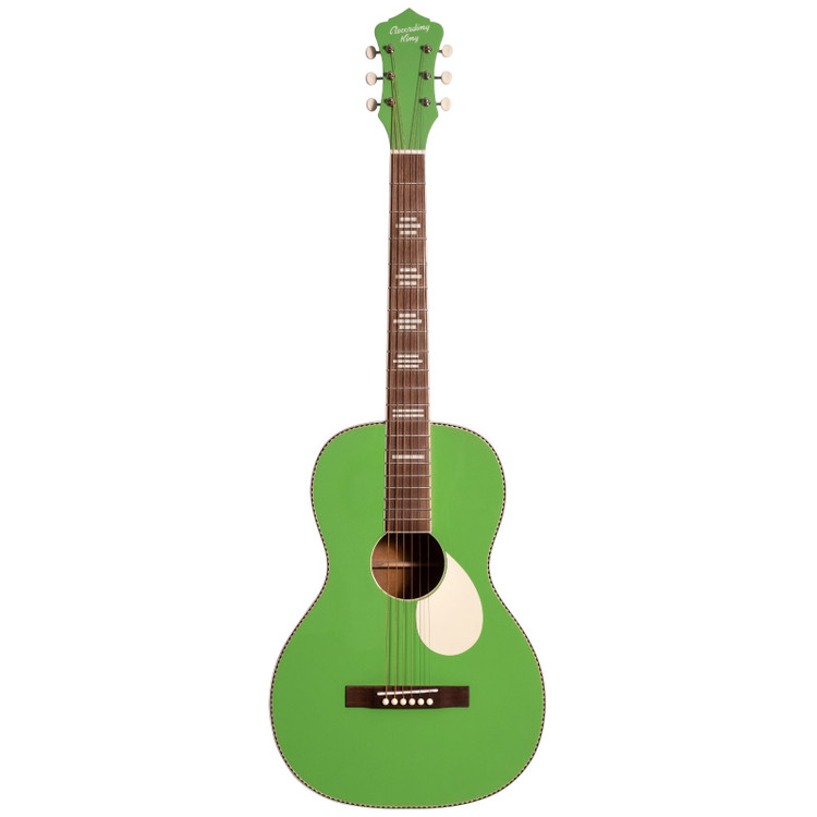 Recording King RPS-7-GN Dirty 30s Series 7 Single 0 Acoustic Guitar, Revolution Green