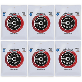 Martin MA150T Acoustic Lifespan 2.0 Acoustic Guitar Strings - 6 PACK