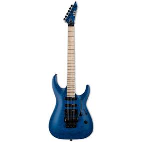 ESP LTD MH-203QM Quilted Maple Electric Guitar, See Thru Blue