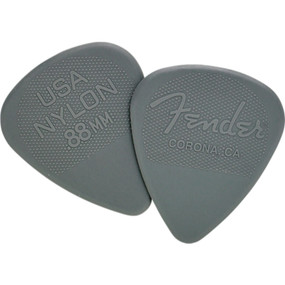 Fender 351 Shape Nylon Guitar Picks, .88mm, Dark Gray, 12-Pack