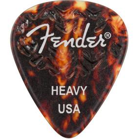 Fender 351 Shape Wavelength Celluloid Guitar Picks, Heavy, Shell, 6-Pack