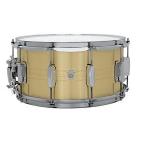 "Ludwig LBR0714 Heirloom Brass Snare Drum, 7"" x 14"""