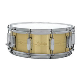 "Ludwig LBR5514 Heirloom Brass Snare Drum, 5.5"" x 14"""