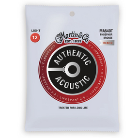 Martin MA540T Authentic Lifespan 2.0 Treated Acoustic Guitar Strings, Light