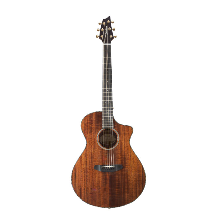 Breedlove Pursuit Exotic Concert KOA Acoustic Electric Guitar, Natural