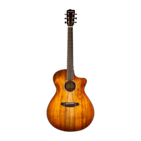 Breedlove Pursuit Exotic Concerto Prairie Burst Acoustic Electric Guitar with Gig Bag