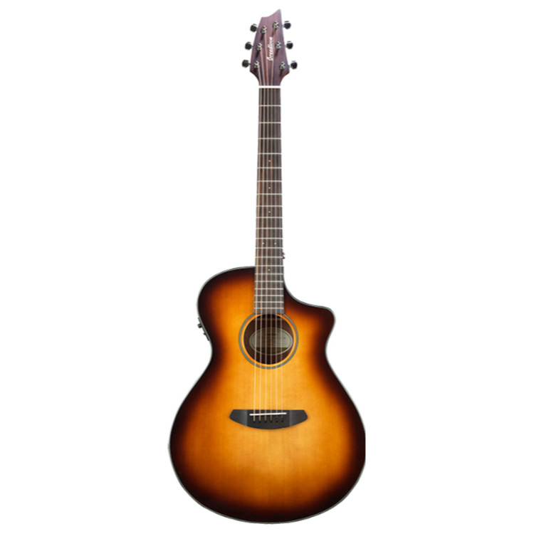 Breedlove Discovery Concert CE Acoustic Electric Guitar with Gig Bag, Sunburst