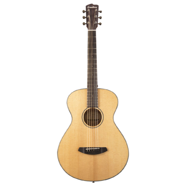 Breedlove Discovery Concertina Acoustic Guitar with Gig Bag, Natural