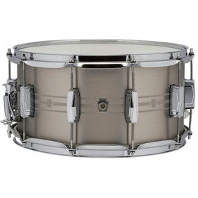 "Ludwig LSTLS0714 Heirloom Stainless Steel Snare Drum, 7""x 14"""