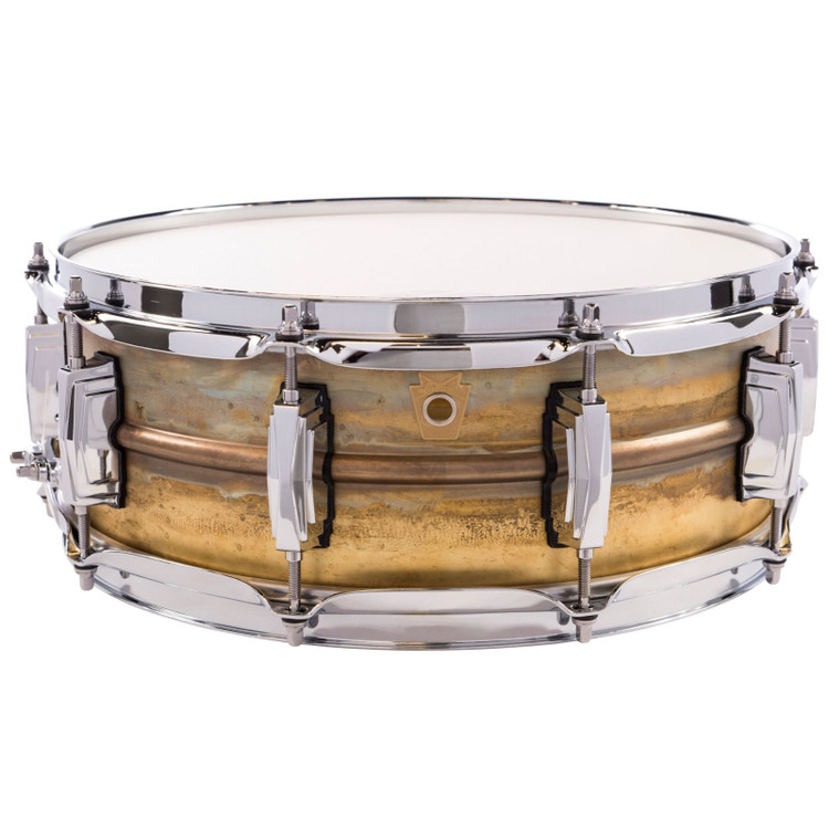 "Ludwig LB454R Raw Brass Phonic Snare Drum, 5""x 14"""