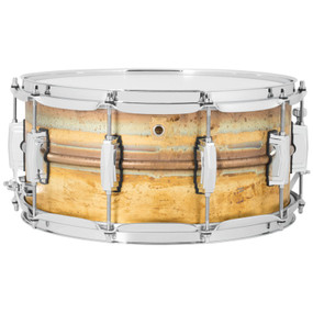 "Ludwig LB464R Raw Brass Phonic Snare Drum, 6.5""x 14"""