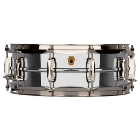 "Ludwig LB400BN Super Ludwig 5""x 14"" Chrome Over Brass Snare Drum, Nickel Hardware"