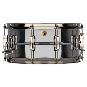 "Ludwig LB402BN Super Ludwig 6.5""x 14"" Chrome Over Brass Snare Drum, Nickel Hardware"