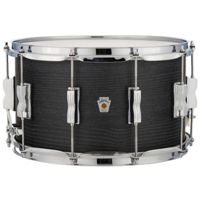 "Ludwig LKS784XX3D 8""x 14"" Standard Maple Snare Drum, Black Shadow"