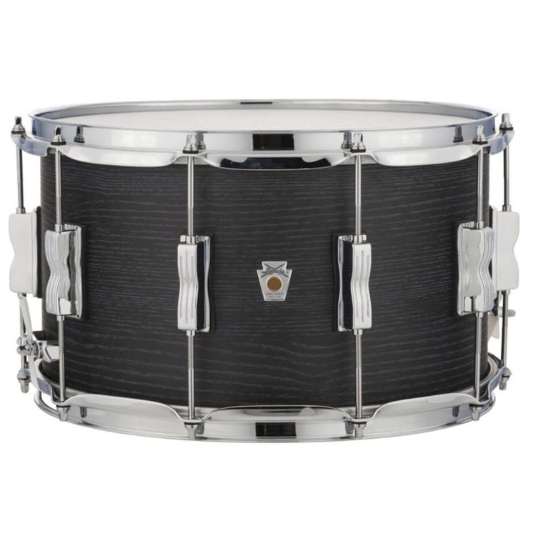 """Ludwig LKS784XXBH Keystone X Series 8""""x 14"""" Snare Drum, Night Oak"""