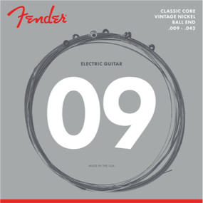 Fender 155L Classic Core Vintage Nickel Ball End Electric Guitar Strings, .009-.042