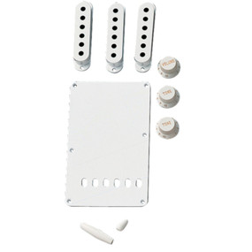 Fender Vintage Style Stratocaster Electric Guitar Accessory Kit, White