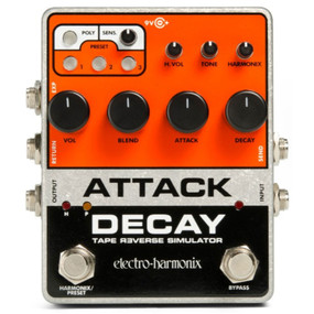 Electro-Harmonix ATTACK DECAY Tape Reverse Simulator Effects Pedal
