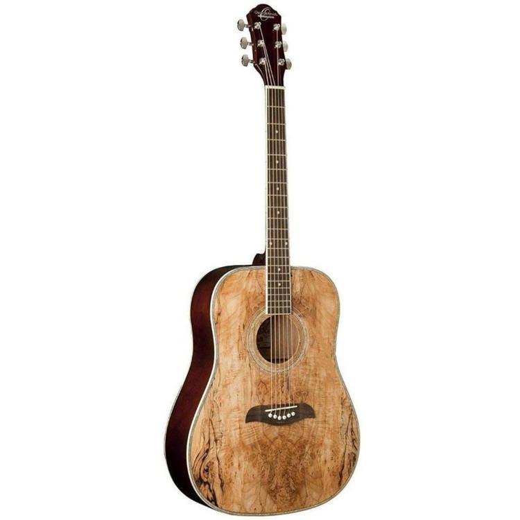 Oscar Schmidt OG1SM Student 3/4 Size Acoustic Guitar, Spalted Maple