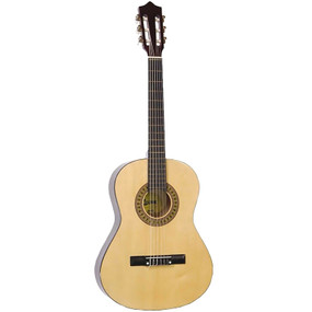 "Lauren LA36N 36"" Student Nylon String Classical Acoustic Guitar, Natural"