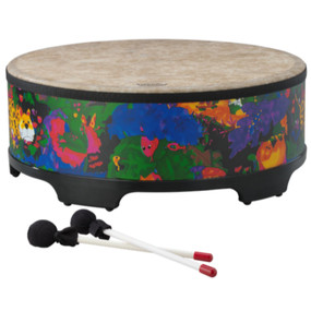 "Remo KD581601 Kids Percussion Rainforest Gathering Drum, 16"" x 8"""