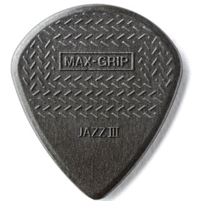 Dunlop 471R3C Max-Grip Jazz III Carbon Fiber Guitar Picks, 24-Pack