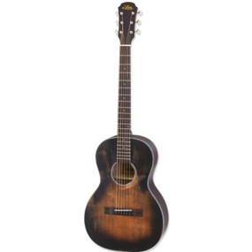 Aria 131DP Delta Player Parlor Acoustic Guitar, Muddy Brown